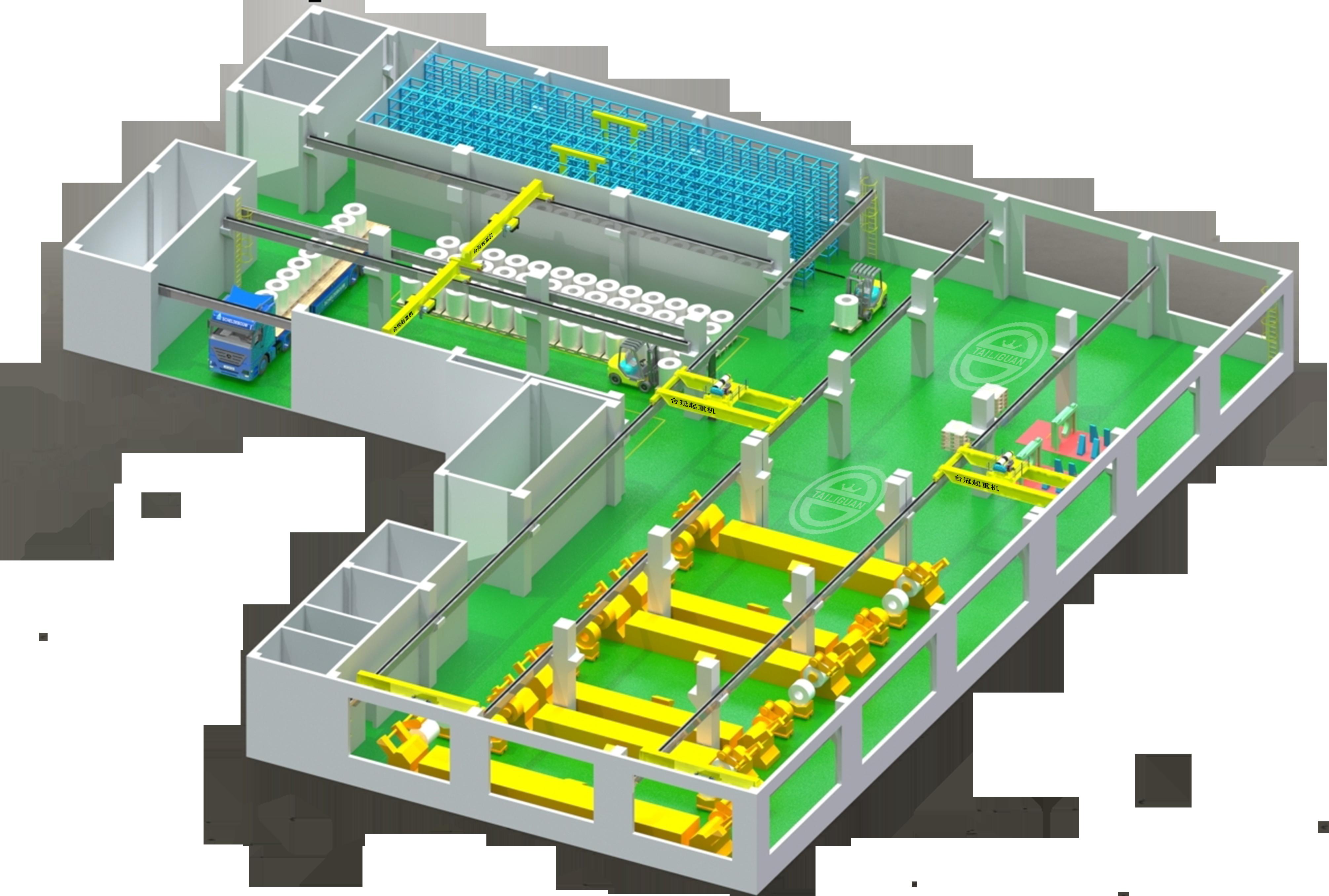 台冠智能起重机案例模型图